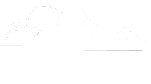 The logo for Novia Media, which contains mountains, a rising sun, and the ocean.